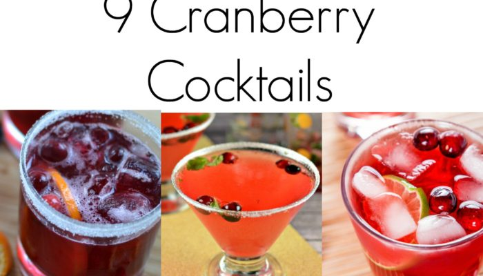 Tis the Season – 9 Cranberry Cocktails Recipes