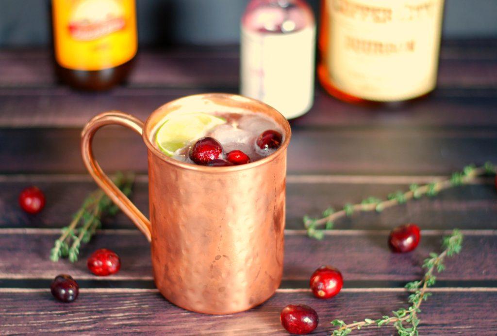 cranberry-thyme-bourbon-mule
