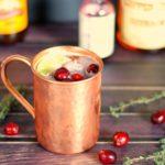 Cranberry Thyme Bourbon Mule