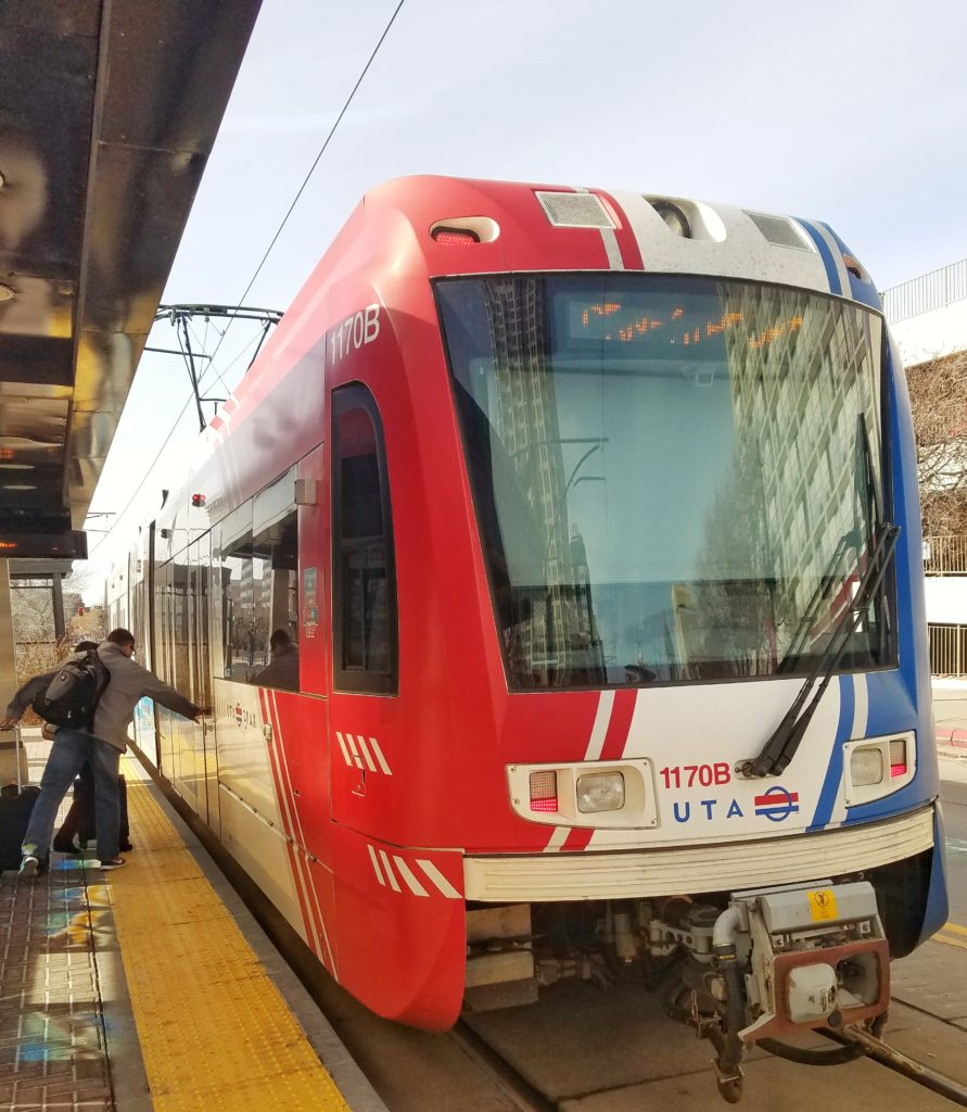 TRAX light rail Salt Lake City Eats