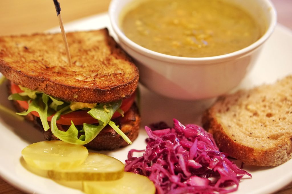 Modern Market Soup and Sandwich