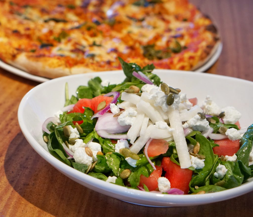 Sauce Salad and Pizza Sampler Special