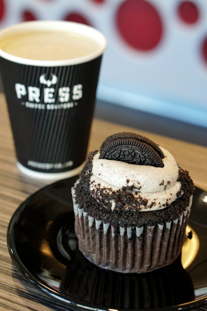 Press Coffee Phoenix Chai and Cupcake
