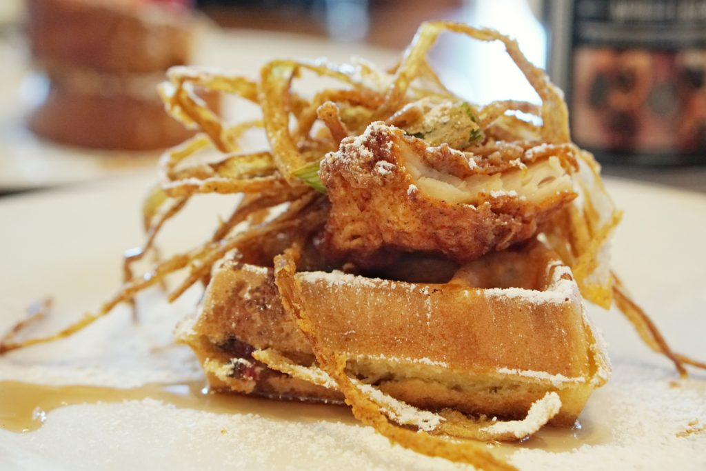 Hash Kitchen Scottsdale Herb Fried Chicken and Waffle