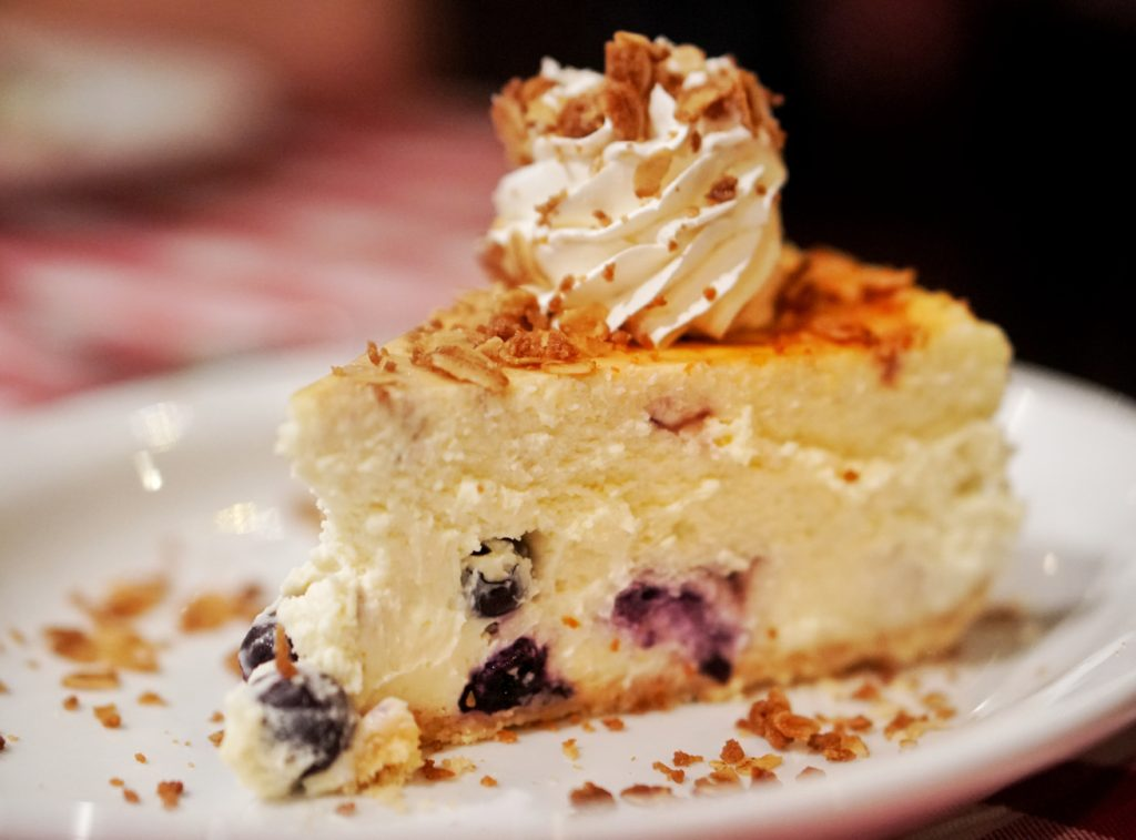 Grimaldis blueberry cheesecake