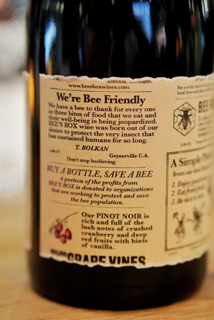 Bee's Box Wines save the bees