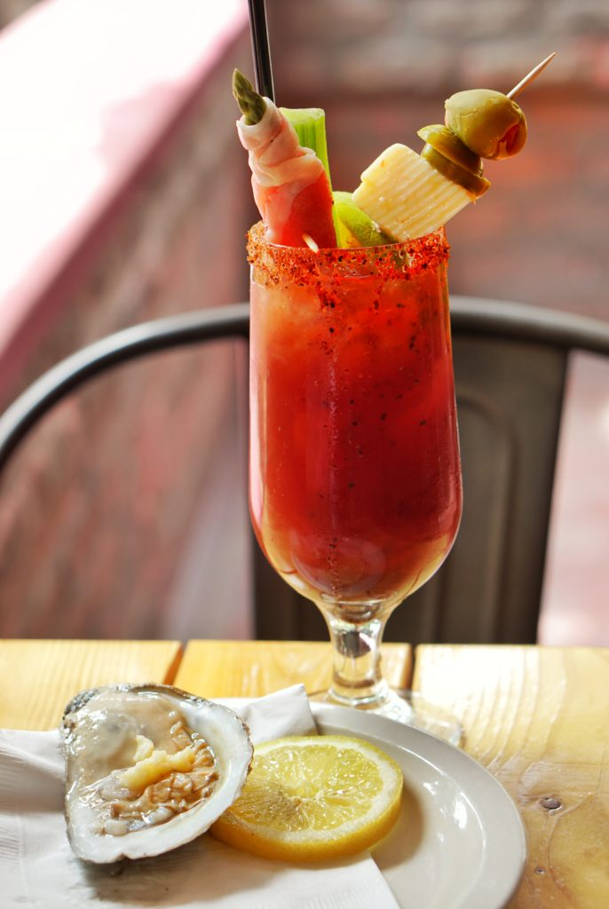 Casey Moores Bloody Mary Oysters