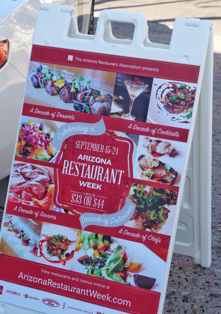 Arizona Restaurant Week Fall 2017