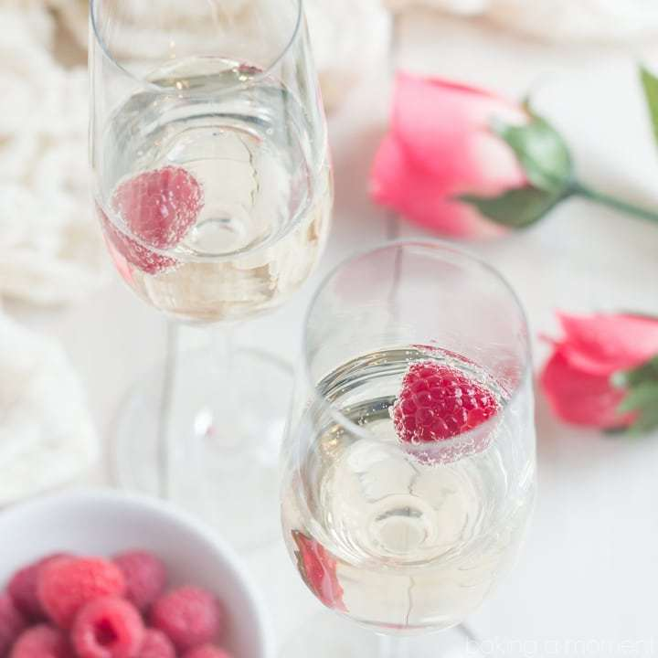 Baking a Moment - Champagne and Roses Cocktail