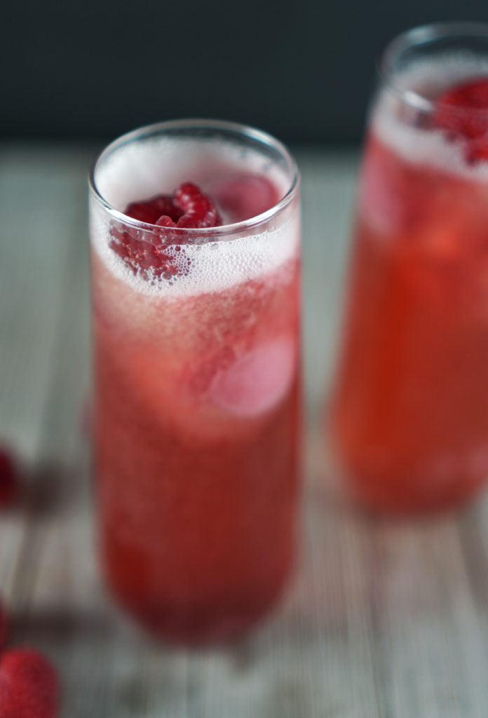 Valentines Day Raspberry Spritz Cocktail