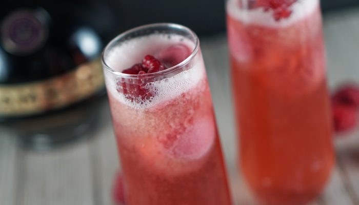 Raspberry Sorbet Spritz Cocktail Perfect for Sharing with your Valentine