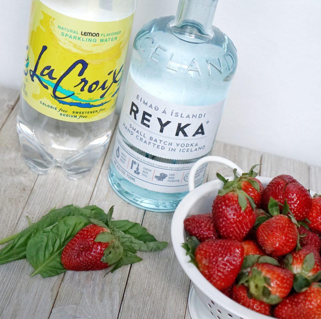 Strawberry Basil Smash Cocktail