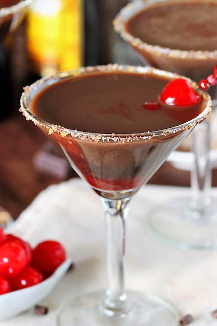 The Kitchen is my Playground Chocolate-Covered-Cherry-Martini