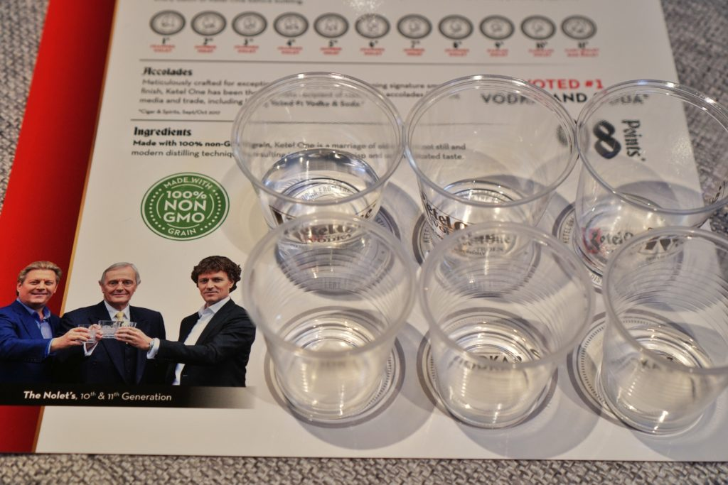 Ketel One vodka blind tasting